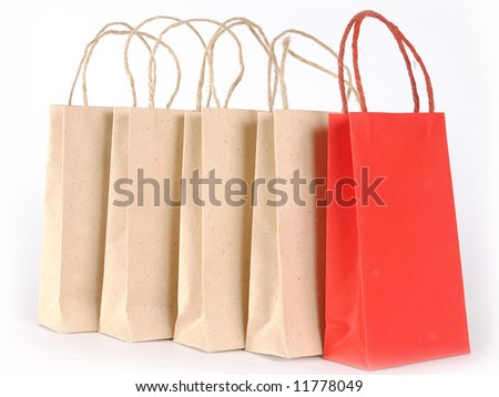 Bags for purchases - stock photo