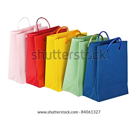 Bags for shopping - stock photo