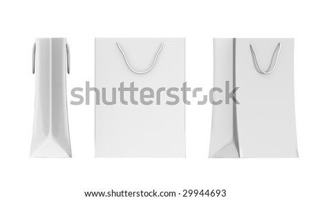 bags on white background