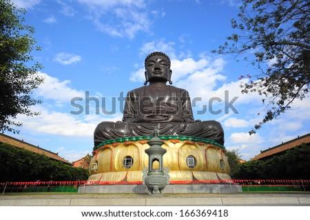 Bagua Mountain Giant Buddha in Changhua, Taiwan   - stock photo