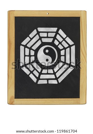 Bagua symbol on a blackboard