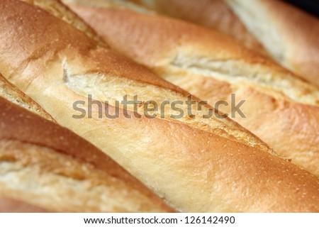 baguette bread texture - stock photo