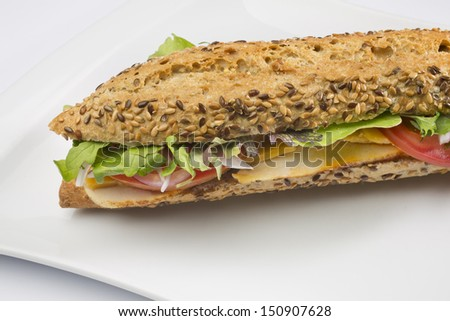 baguette with vegetable