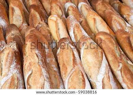 Baguettes - stock photo
