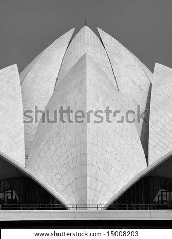 Bahai Temple, New Delhi, India - stock photo