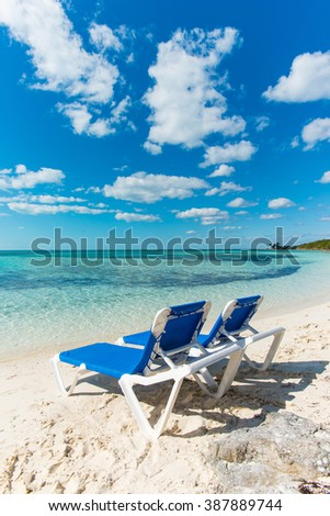 Bahamas Coco Cay Caribbean Island luxury beach oasis - stock photo