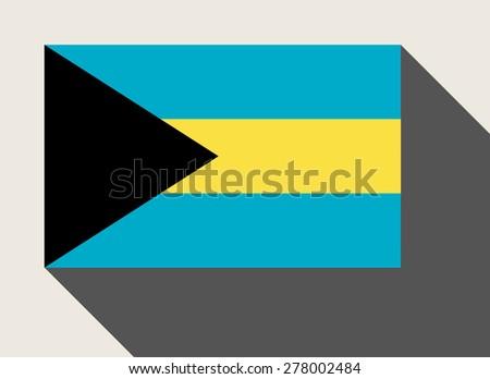 Bahamas flag in flat web design style. - stock photo