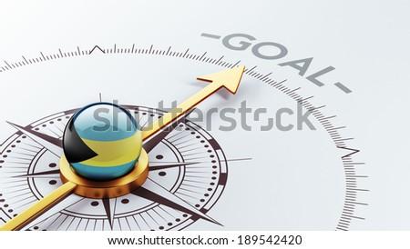Bahamas  High Resolution Goal Concept - stock photo