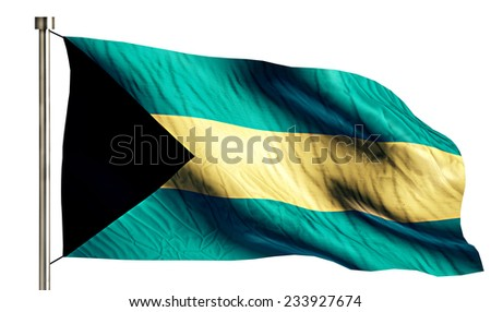 Bahamas National Flag Isolated 3D White Background