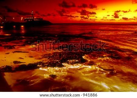 Bahia de Todos os Santos, Brazil - stock photo