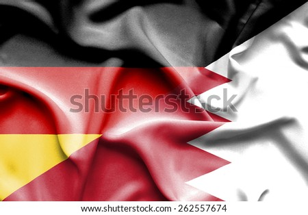 Bahrain waving flag Germany - stock photo