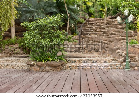 Bailey Has A Built Area Of Artificial Wood Stairs And Walkways