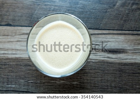 Baileys liqueur in glass