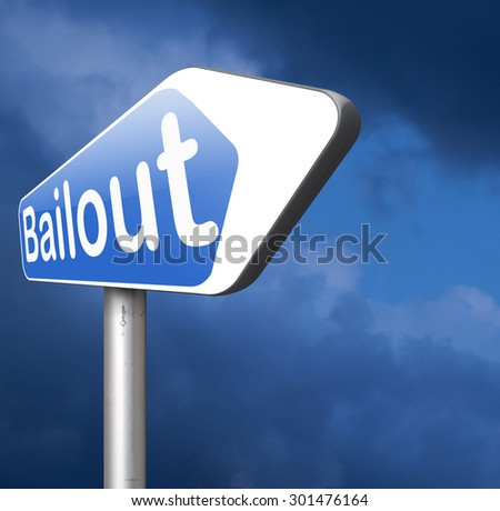 bailout or bankruptcy economic crisis and financial recession    - stock photo
