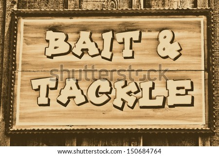 Bait and Tackle sign - stock photo