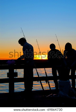 Baiting the Hook - stock photo