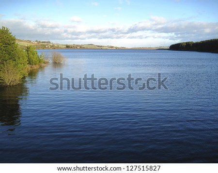 Baitings Reservoir, Calderdale, West Yorkshire, UK