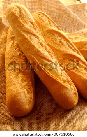 bake bread french baguette  - stock photo