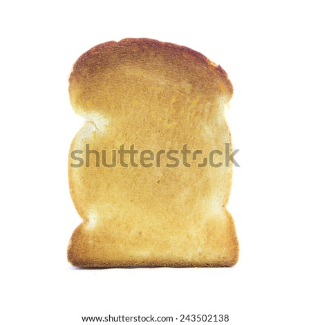 Bake white thick fresh bread ingredient on white background