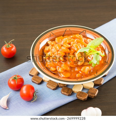 Baked Beans in Tomato Sauce - stock photo