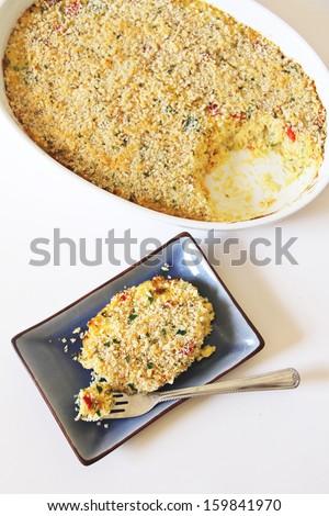 Baked Cheesy Spaghetti Squash - stock photo