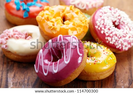 baked donuts - stock photo