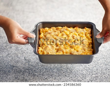 Baked Macaroni and Cheese  - stock photo
