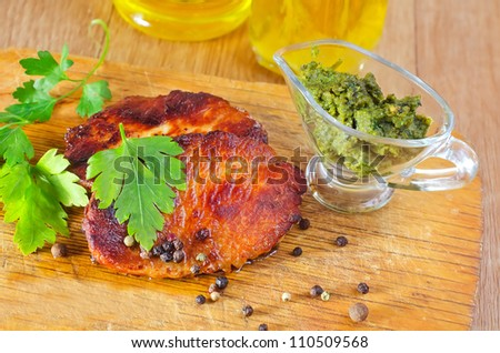 baked meat - stock photo