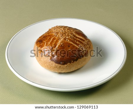 baked pastry on the plate