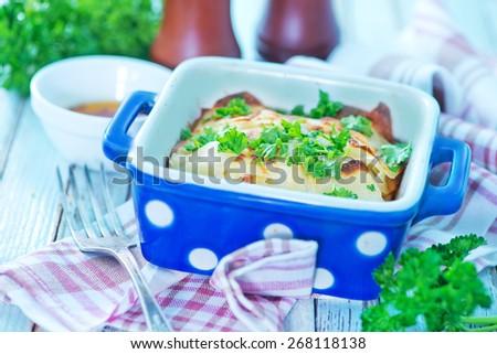 baked potato - stock photo