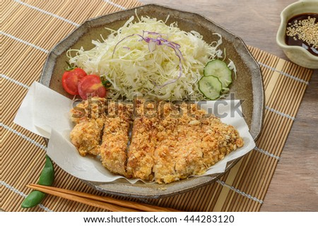 Baked tonkatsu, a healthier version of tonkatsu. Tender and juicy pork loin wrapped in crispy golden panko crust, baked instead of tried, served with savory sauce and freshly ground sesame seeds
