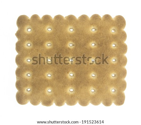 Bakery - Biscuit puzzle / Sweet food - Bakery Isolated on white - stock photo