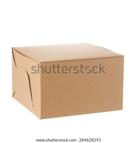 Bakery box isolated over white background