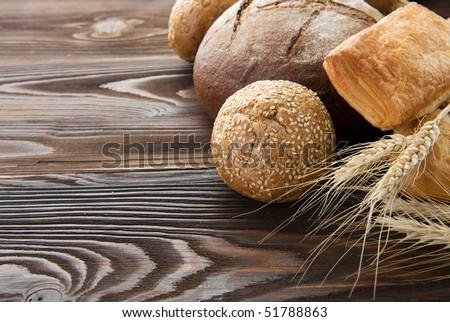 Bakery Bread Border - stock photo