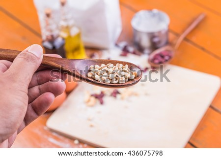 Bakery Equipment Cooking Preparation, selective focus - stock photo