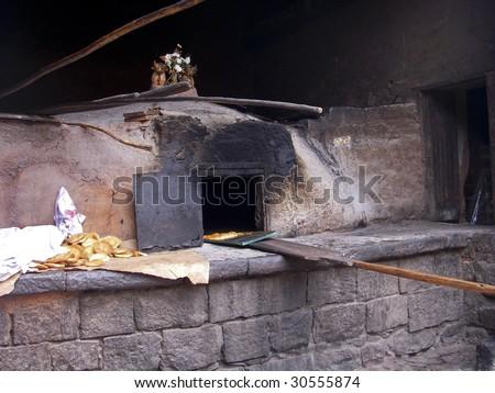 Bakery in Cuzco Peru - stock photo