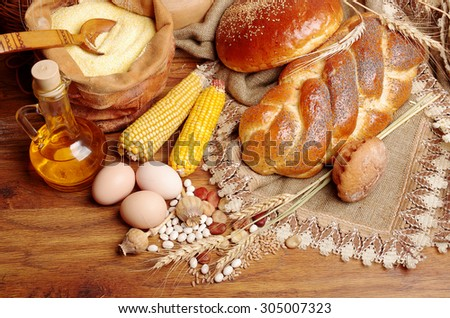 Bakery products and eggs