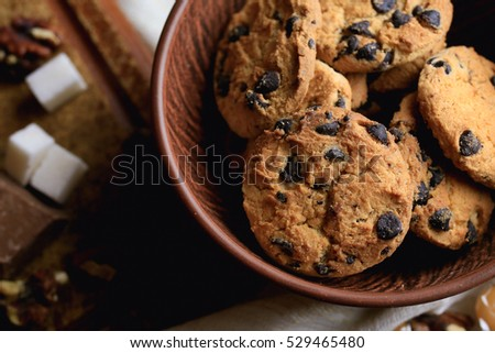 Bakery products, cookies caramel and nuts
