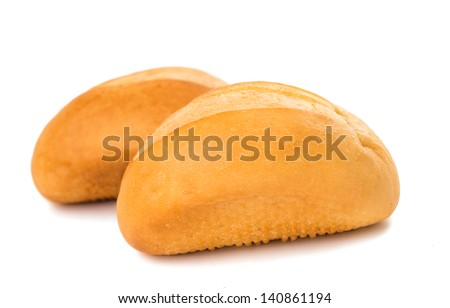 bakery products on white background