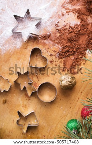 baking background:  preparing cookies