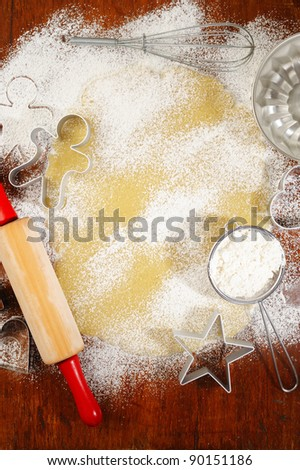 Baking cookies background - stock photo