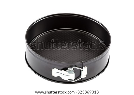 Baking dish cakes isolated on white background.