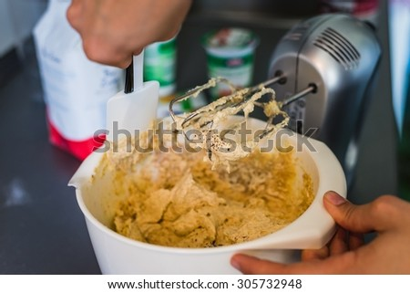 baking from a bakers point of view - stock photo