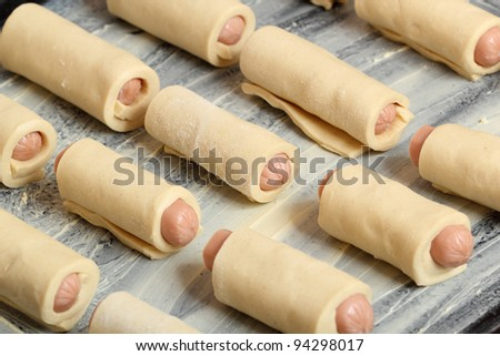 Puff Pastry Hot Dogs Recipe Baking Hot Dog Rolled in Puff