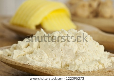 baking ingredients  meal, butter