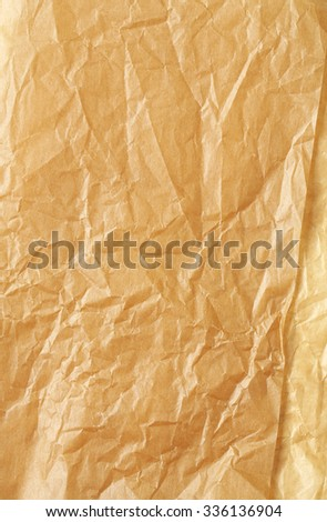Baking paper as background