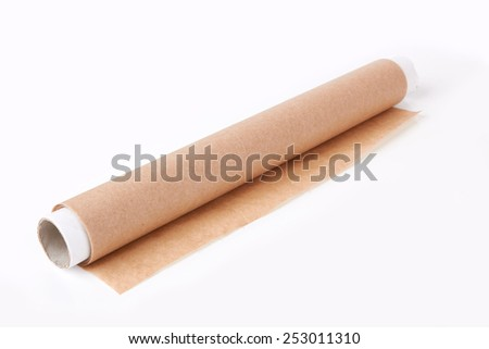 baking paper isolated on a white background