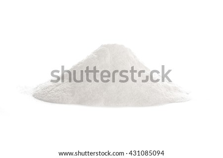 Baking powder, a a chemical compound and a leavening agent for baking, isolated on white
