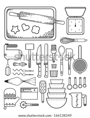 Baking Supplies Stock Illustration 166138349