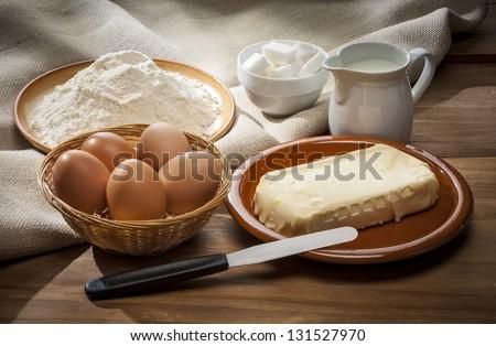 Baking table - stock photo